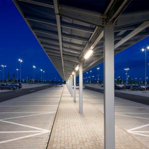 covered parking area solar led lighting